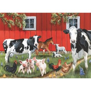 Red Barn 35-Piece Tray Puzzle - Image 1 of 2