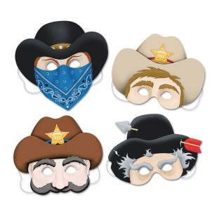 Western Masks (Pack of 4) - Image 1 of 1