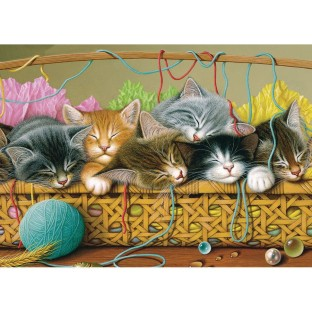 Kittens in a Basket 35-Piece Tray Puzzle - Image 1 of 1