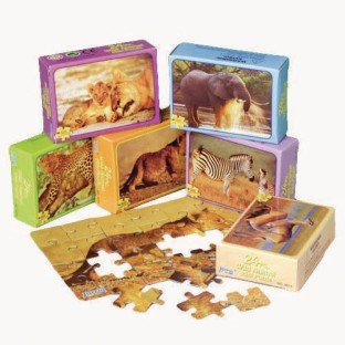 Wild Animal Mini Puzzle Assortment (Pack of 12) - Image 1 of 1