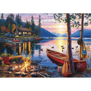 Canoe Lake Jigsaw Puzzle, 300 Pieces - Image 1 of 1