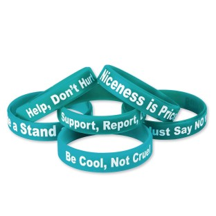 Anti-Bullying Silicone Bracelet (Pack of 24) - Image 1 of 4