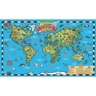 Kids Interactive World Map - Image 1 of 2