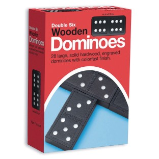Double-Six Wooden Dominoes (Set of 28) - Image 1 of 1