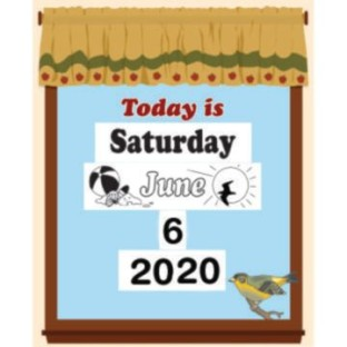 Laminated Daily Calendar - Image 1 of 2