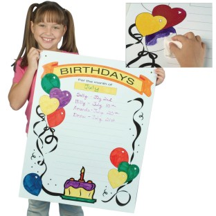 Write-On Wipe-Off Happy Birthday Poster - Image 1 of 3