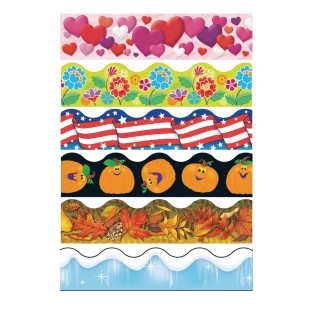 Seasonal Bulletin Border Trim Pack (Pack of 6) - Image 1 of 1