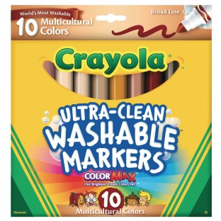 Crayola® Ultra-Clean™ Washable Markers, Multicultural (Set of 10) - Image 1 of 1