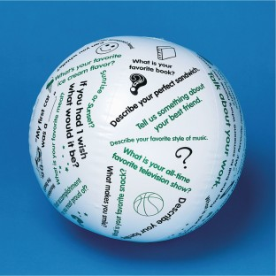 Toss 'n Talk-About® Getting Acquainted Ball - Image 1 of 3
