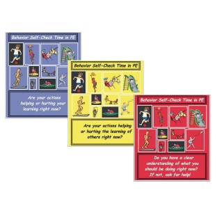 Behavior Self-Check Poster Set (Set of 3) - Image 1 of 1