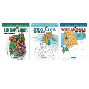 Creative Haven® Wildlife Dot-to-Dot Coloring Books (Set of 3) - Image 1 of 1