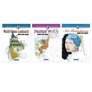 Creative Haven® Visions Dot-to-Dot Coloring Books (Set of 3) - Image 1 of 1