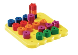 Stacking Shapes Pegboard - Image 1 of 1