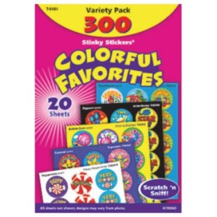 Scratch & Sniff Stickers Colorful Favorites Value Pack - Image 1 of 1