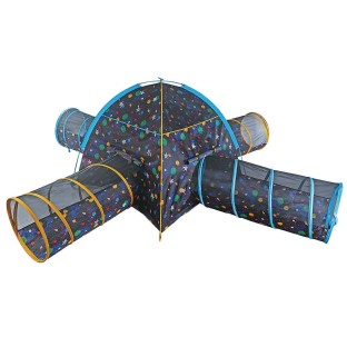 Galaxy Tent And 4 Crawl Tunnels Combo With Glow In The Dark Stars - Image 1 of 3