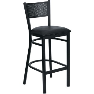 Black Metal Barstool - Image 1 of 1