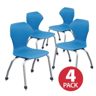 "Apex™ Series Stacking Chair, 18"" Set, Navy (Set of 4) - Image 1 of 1"