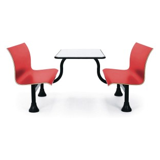 Astonishing Buy Retro Red Bench With Stainless Steel Tabletop At Ss Dailytribune Chair Design For Home Dailytribuneorg