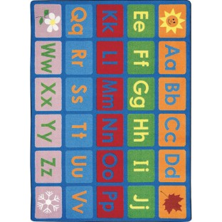Any Day Alphabet Carpet, 5'4