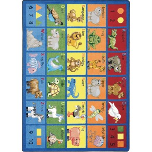 Animal Phonics Carpet, 5'4
