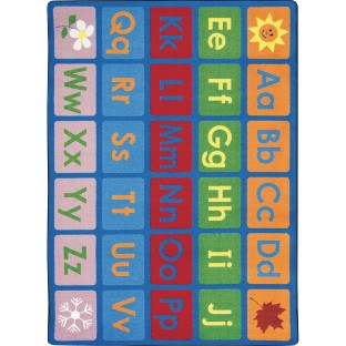 "Any Day Alphabet Rug, 10'9"" x 13'2"" - Image 1 of 1"
