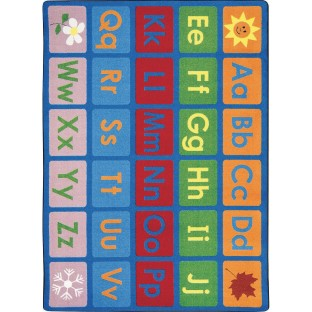 "Any Day Alphabet Rug, 7'8"" x 10'9, Primary - Image 1 of 1"