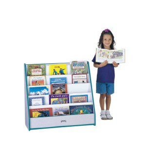 1-Sided Flushback Pick-a-Book Stand, Blue, Blue - Image 1 of 1
