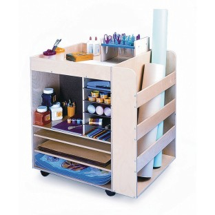 Mobile Art Supply Cart - Image 1 of 1