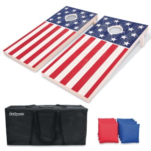 America Wooden Cornhole Set, Regulation Size (4' x 2') - Image 1 of 1