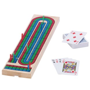Cribbage Board and Card Set - Image 1 of 1
