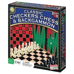 Chess, Checkers, Backgammon Game - Image 1 of 1