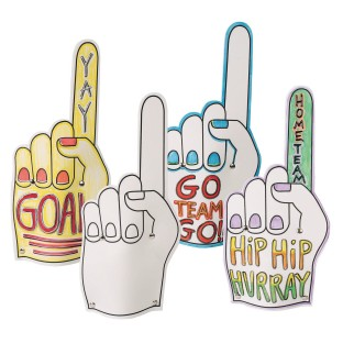Go Team Foam Fingers (Pack of 12) - Image 1 of 6