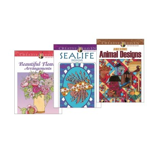 Creative Haven Nature Coloring Books (Set of 3) - Image 1 of 4