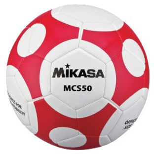 Mikasa® MCS50 Soccer Ball, White/Red - Image 1 of 1