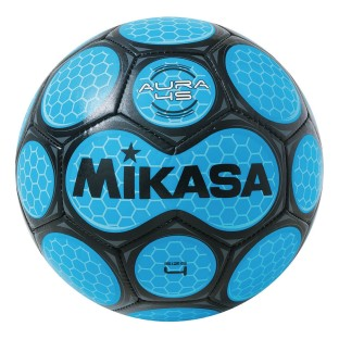 Mikasa® Aura Soccer Ball, Size 4 Black/Neon Blue - Image 1 of 1