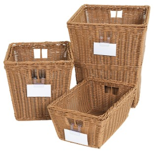 Wood Designs® Plastic Wicker Storage Baskets (Set of 4) - Image 1 of 3