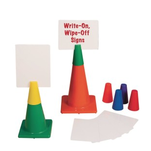 Poly Cone Topper Sign Set (Set of 6) - Image 1 of 1