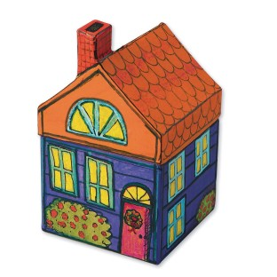Paper Mache House (Pack of 6) - Image 1 of 2