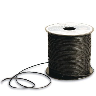 Black Waxed Cotton Cord, 1mm thick x 150 yards - Image 1 of 1