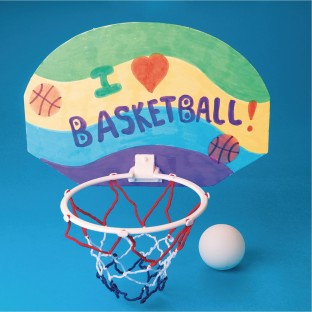 Color-Me™ Basketball Hoop Craft Kit Without Markers (Pack of 12) - Image 1 of 2