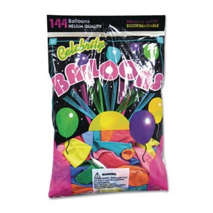 "9"" Latex Balloons (Pack of 144) - Image 1 of 1"