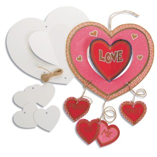 Color-Me™ Heart Mobiles (Pack of 12) - Image 1 of 2