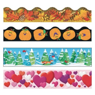 Fall into Winter Bulletin Board Trim Pack - Image 1 of 1