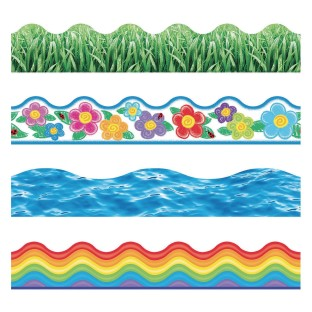 Spring into Summer Bulletin Board Trim Pack - Image 1 of 1