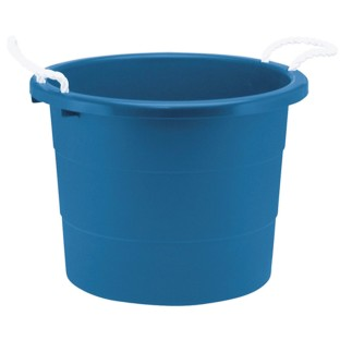 Rough & Rugged™ 19-Gallon Blue Plastic Tub with Rope Handles - Image 1 of 1