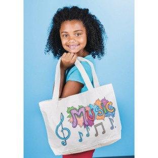 Color-Me™ Medium Tote Bag with Gusset (Pack of 6) - Image 1 of 1