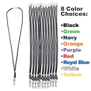 Breakaway Lanyards, Black (Pack of 12) - Image 1 of 1