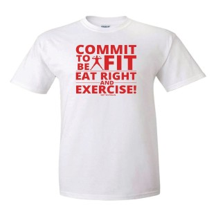 Commit To Be Fit T-Shirt, QTY 144 To 287, Medium - Image 1 of 1