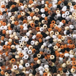 Fuzzy Pony Beads Assortment, Natural Colors - Image 1 of 1