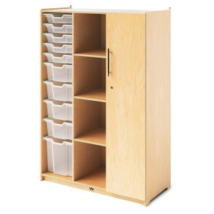 Whitney Brothers® Teachers Wardrobe Cabinet with Trays & Locking Door - Image 1 of 2